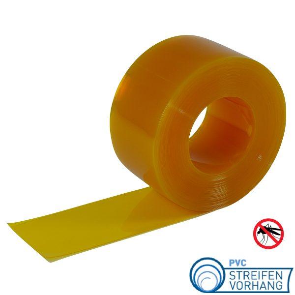 PVC Rolle Stallvorhang gelb transparent
