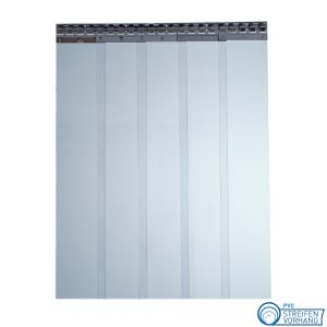 PVC Streifenvorhang blau transparent