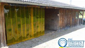 PVC Lamellenvorhang Stallvorhang gelb-transparent