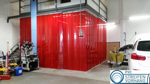 PVC Schweißerschutzvorhang rot