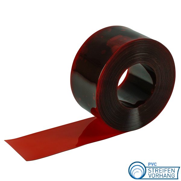 PVC Rolle rot transparent Signalstreifen