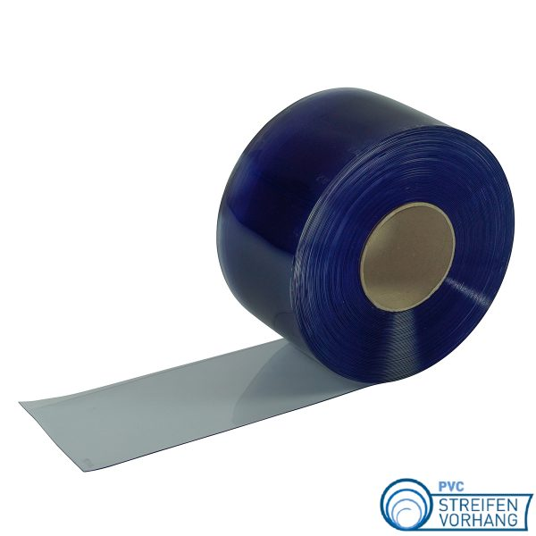 PVC Rolle blau transparent