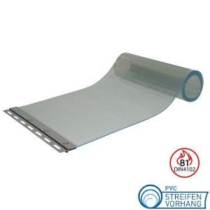 PVC Ersatzstreifen feuerhemmend B1 transparent