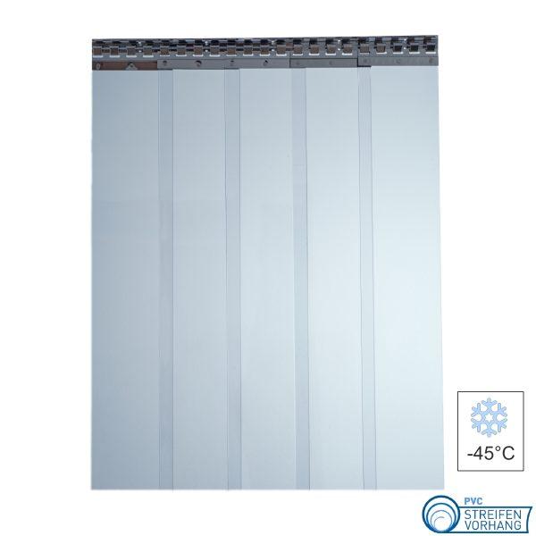 PVC Streifenvorhang Kühlhaus transparent