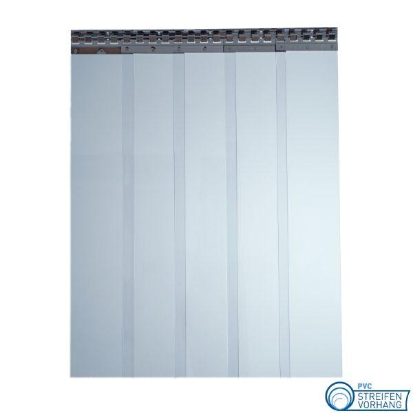 PVC Lamellenvorhang blau transparent